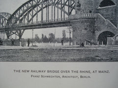 New Railway Bridge over the Rhine, Mainz, Germany, EUR, 1904, Franz Schwechten