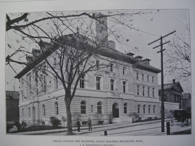 Police Station and Municipal Court Building , Brookline, MA, 1901, J.A. Schweinfurth