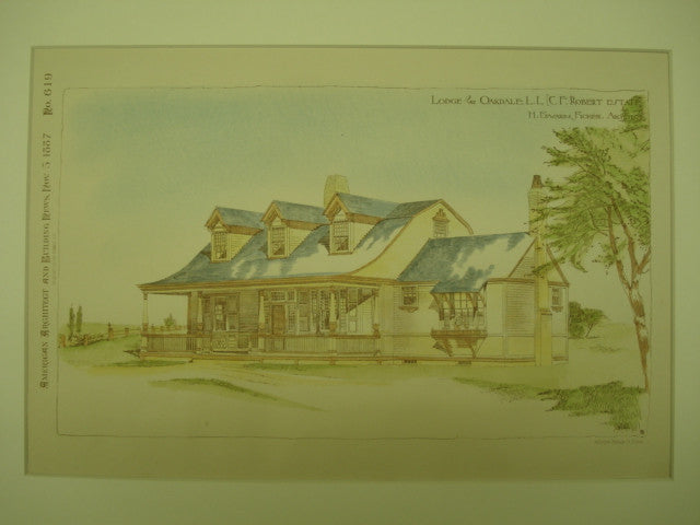 Lodge for the C. F. Robert Estate , Oakdale, NY, 1887, H. Edwards Ficken