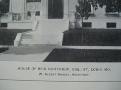 House of Reid Northrup, Esq., St. Louis, MO, 1903, W. Albert Swasey
