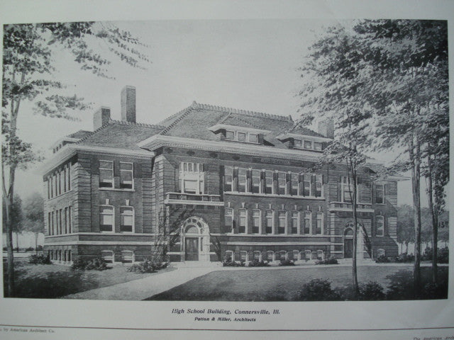 High School Building , Connersville, IL, 1904, Patton & Miller