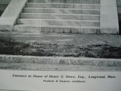 Entrance to the House of Henry S. Howe, Esq., Longwood, MA, 1904, Peabody & Stearns