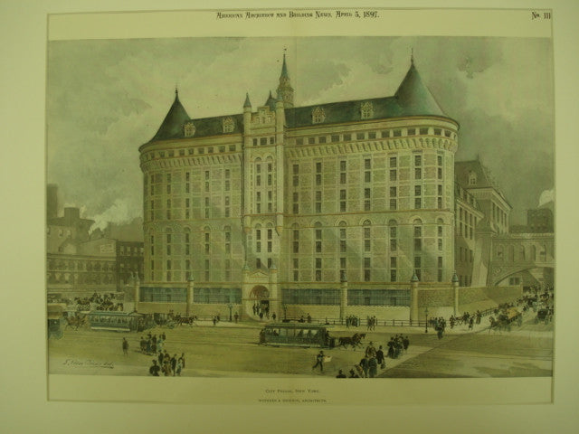 City Prison, New York, NY, 1897, Withers & Dickson