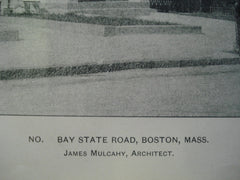 No. Bay State Road , Boston, MA, 1903, James Mulcahy
