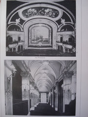 Proscenium and the Foyer of the Illinois Theatre , Chicago, IL, 1901, Wilson & Marchall