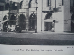 General View of the Post Building , Los Angeles, CA, 1930, Meyer & Holler, Inc