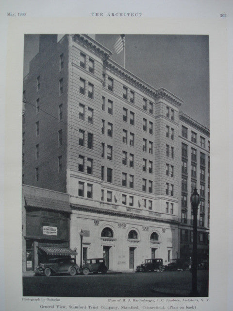 General View of the Stamford Trust Company , Stamford, CT, 1930, H.J. Hardenberger, J.C. Jacobsen