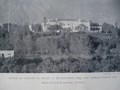 House on the Estate of Henry E. Huntington, Esq., Los Robles Ranch, CA, 1911, Myron Hunt & Elmer Grey