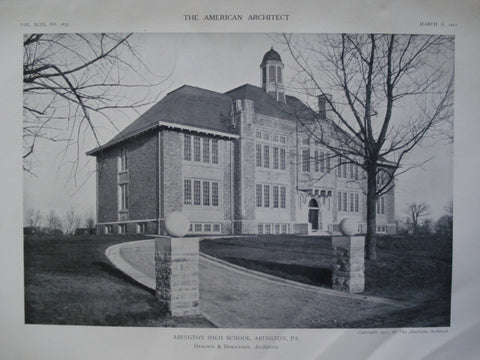 Abington High School , Abington, PA, 1911, Heacock & Hokanson