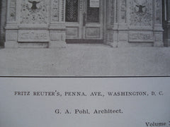 Fritz Reuter's on Penna. Ave., Washington, DC, 1906, G.A. Pohl
