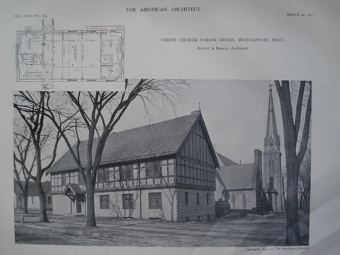 Christ Church Parish House , Minneapolis, MN, 1911, Hewitt & Brown