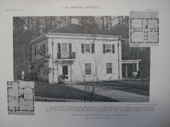 House for Edward F. Beale, Esq., Stratford, PA, 1911, Mellor & Meigs