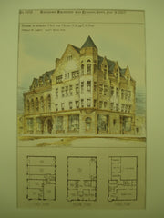 Building for Messrs. A. A. and E. A. Dow , Woburn, MA, 1887, Andrews & Jaques