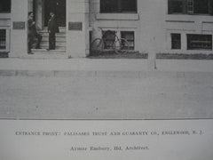 Entrance Front: Palisades Trust and Guaranty Co., Englewood, NJ, 1907, Aymar Embury, IId