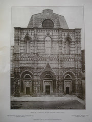 Front of S. Giovanni or the Bapistery , Siena, Italy, EUR, 1907, Unknown