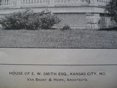 Entrance Hall and House of E.W. Smith Esq. , Kansas City, MO, 1903, Van Brunt & Howe