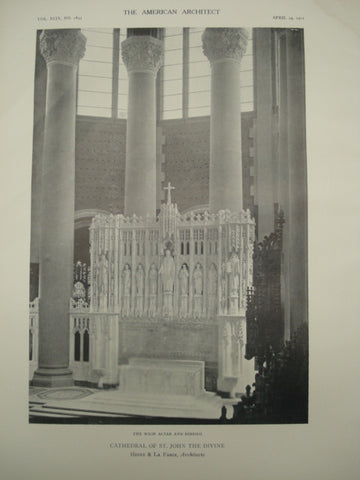Cathedral of St. John the Divine , New York, NY, 1911, Heins & La Farge