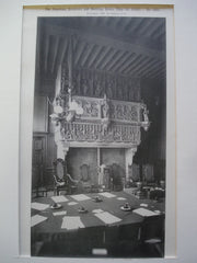 Chimney-Piece in the Council Chamber of the Hotel de Ville , Courtrai, Belgium, EUR, 1892, Unknown