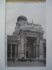 Main Entrance to the Palais de Justice , Brussels, Belgium, EUR, 1890, Joseph Poelaert