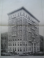 Apartment House, No. 771 on Madison Ave., New York, NY, 1901, Louis Korn