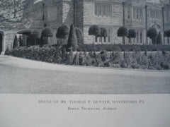 House of Mr. Thomas P. Hunter , Haverford, PA, 1911, Horace Trumbauer