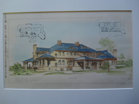 House for Chas. Sooysmith, Esq., Greens Farms, CT, 1892, W.W. Kent