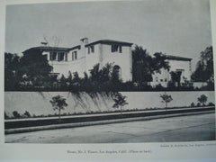 House for Mr. I. Eisner , Los Angeles, CA, 1927, Gordon B. Kaufmann