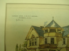 Proposed House for Mr. K. F. Crocker , Fitchburg, MA, 1889, Unknown
