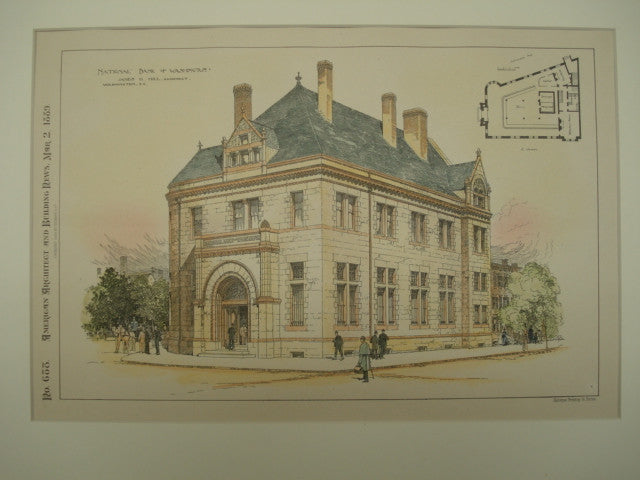 National Bank of Washington , Washington, DC, 1889, James G. Hill