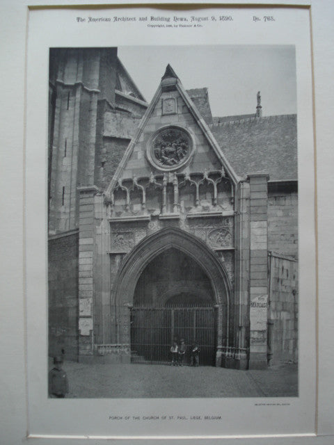 Porch of the Church of St. Paul , Liege, Belgium, EUR, 1890, Unknown