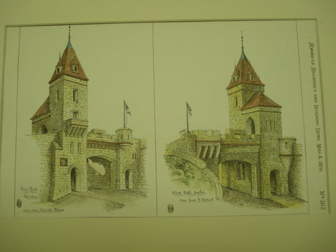 Design for Kent Gate, Quebec, CAN, 1879, unknown