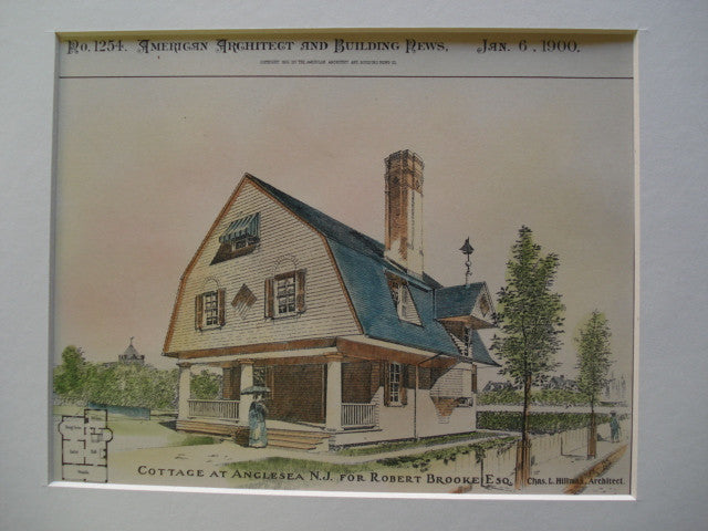 Cottage for Robert Brooke, Esq., Angelsea, NJ, 1900, Chas. L. Hillman