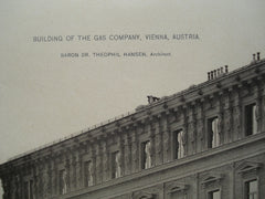 Building of the Gas Company , Vienna, Austria, EUR, 1890, Baron Dr. Theophil Hansen