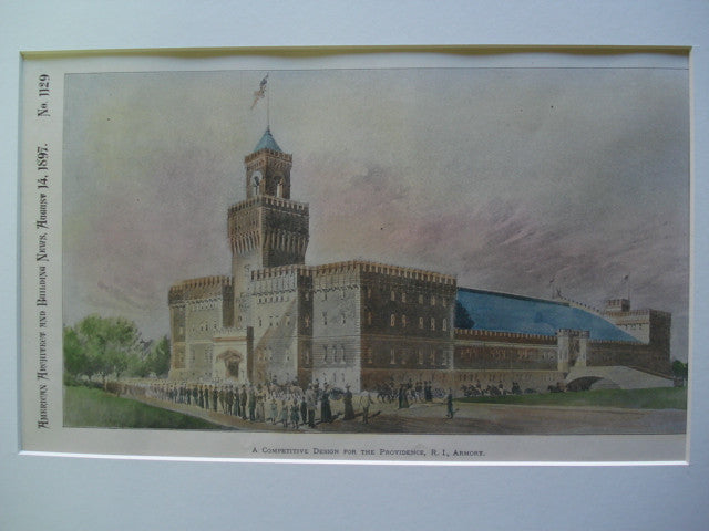Competitive Design for the Providence, RI Armory , Providence, RI, 1897, Unknown
