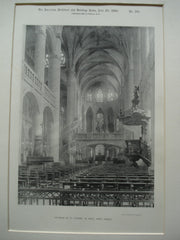 Interior of St. Etienne du Mont , Paris, France, EUR, 1890, Unknown