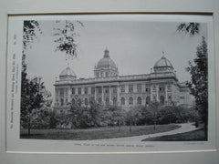 Lateral Facade of the New Natural History Museum , Prague, Bohemia, EUR, 1890, Unknown