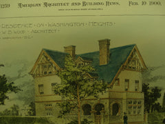 Houses designed by W. B. Wood , Washington DC, 1900, W. B. Wood