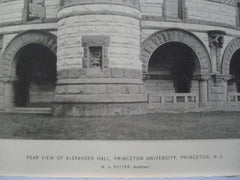 Rear View of Alexander Hall, Princeton University , Princeton, NJ, 1896, W.A. Potter