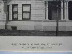 House of Byron Nugent, Esq. , St. Louis, MO, 1896, William Albert Swasey