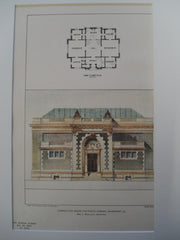 Competitive Design for the Public Library , Davenport, IA, 1901, Wm. L. Woollett