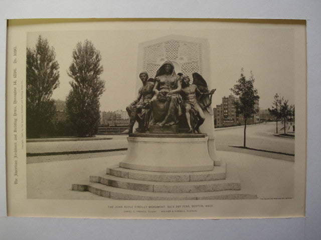 John Boyle O'Reilly Monument, Back Bay Fens , Boston, MA, 1896, Walker & Kimball, Architect(s) & Daniel C. French, Sculptor