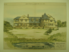 House for Mr. M. Ogden Jones , Wood's Holl, MA, 1889, Wheelright & Haven