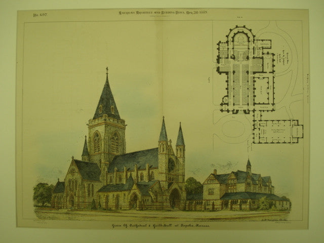 Grace Church Cathedral & Guild Hall , Topeka, KS, 1889, H. M. Congdon
