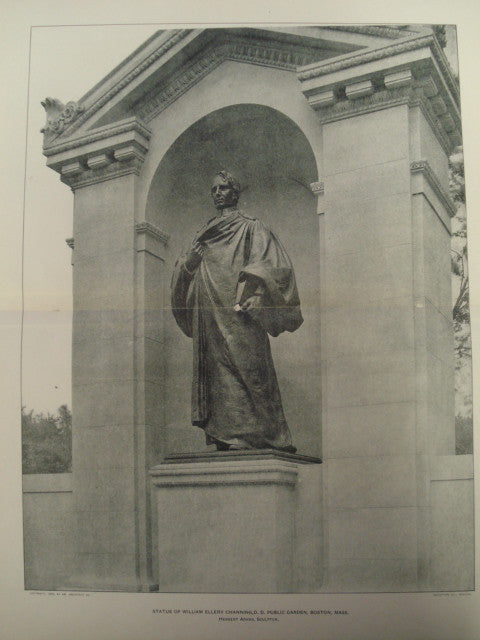 Statue of William Ellery Channing, D.D. in the Public Garden , Boston, MA, 1903, Herbert Adams, [Sculptor]
