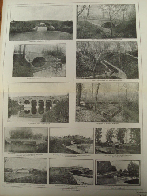 American Park Bridges, Detroit, Michigan, Boston, Massachusetts, and Milwaukee, Wisconsin, 1901, Unknown