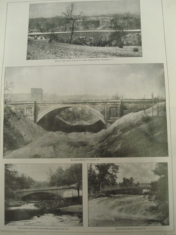 American Park Bridges , Pittsburgh, Pennsylvania, Philadelphia, Pennsylvania, and Niagara, New York, 1901, Unknown