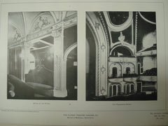Detail of the Foyer and the Proscenium Boxes in the Illinois Theatre , Chicago, IL, 1901, Wilson & Marshall