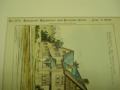 Terraces at Brookline, Brookline, MA, 1900, Thayer and Bowser