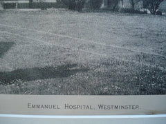 Emmanuel Hospital , Westminster, England, UK, 1890, Unknown