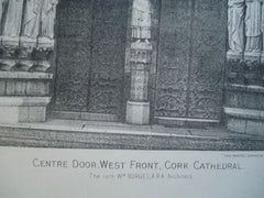 Centre Door, West Front of the Cork Cathedral , Cork, Ireland, EUR, 1890, Wm. Burges